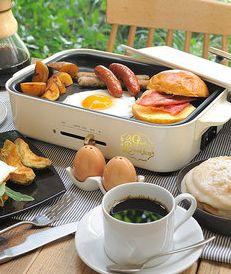 マルチホットプレートで朝食