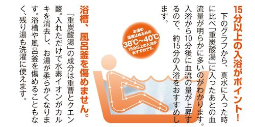 炭酸温浴冷え対策