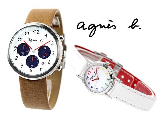 パリのシンプルな腕時計アニエスベー