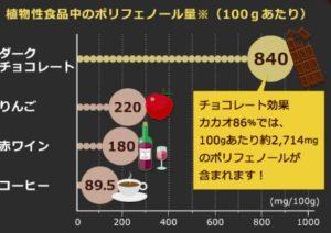 チョコレートに含まれるカカオポリフェノールの効果