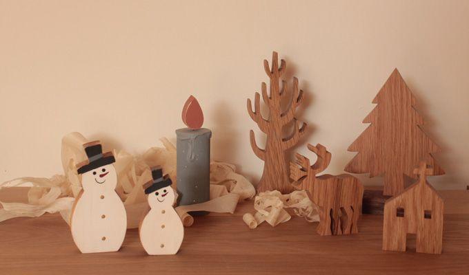 北欧のクリスマス雪だるま