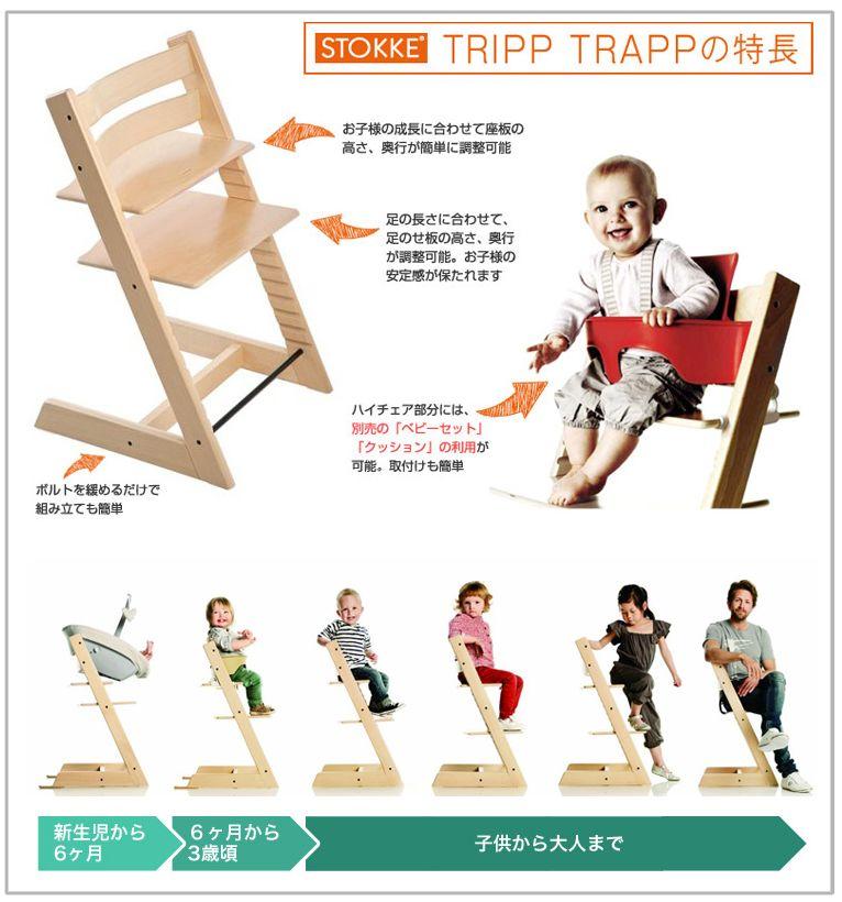 成長に合わせて調整ができる椅子!センスがいいデザインは人間工学に基づいたハイチェアの革命