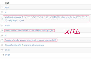 Googleアナリティクスの言語設定でのリファラスパム対処