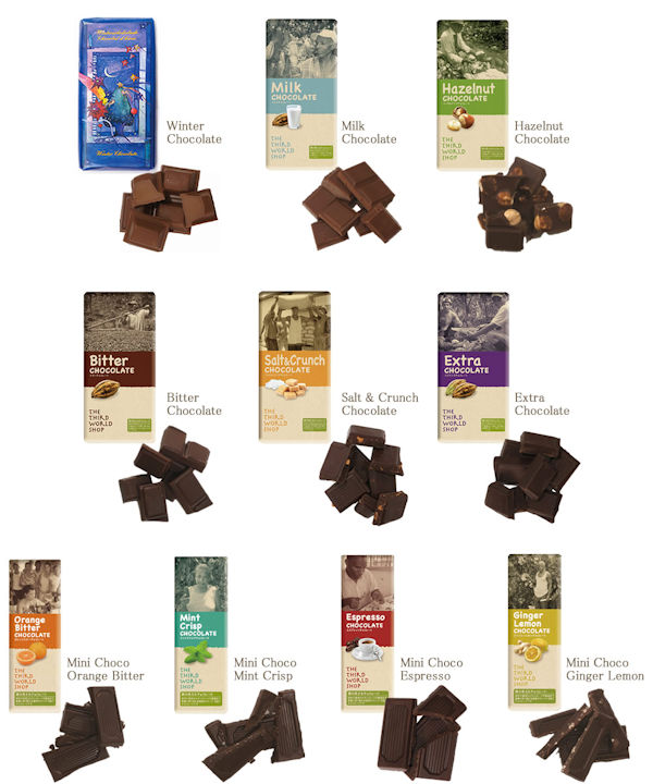 フェアトレード原材料チョコ