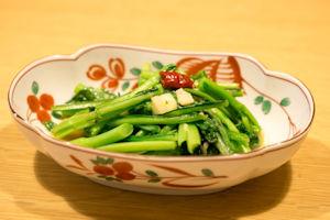 旬の野菜にんにく炒め