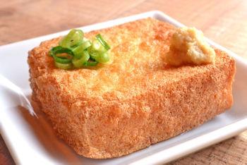 「厚揚げ」大豆加工品で超おすすめ!豆腐のカルシウム2倍!鉄分3倍!たんぱく質5倍!