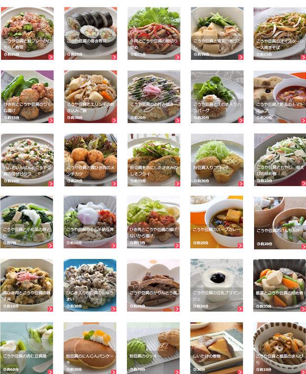 高野豆腐の栄養成分と効果・効能