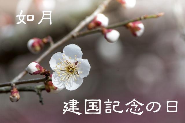 【如月】ていねいに暮らす-「建国記念の日」原点を酌み取る日