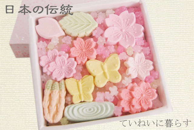 """【落雁-らくがん】""""日本三銘菓""""伝統の和三盆お菓子が可愛い!四季折々のお祝いに添えて…。"""