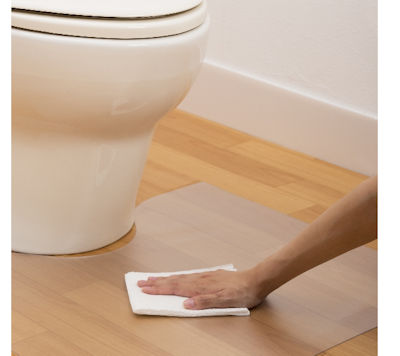 柄のマットを使用したくない方の透明トイレマット