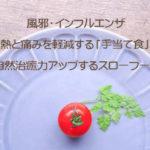 風邪・インフルエンザの熱と痛みを軽減させる「手当て食」の自然治癒力アップするスローフード