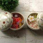 """""""ボンボニエール""""干菓子や金平糖を漆器と陶器で彩る丁寧な時間"""